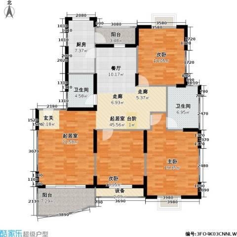 现代星洲城一期3室0厅2卫1厨129.00㎡户型图
