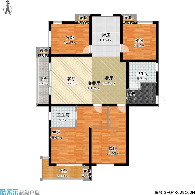3悦海公馆四室两厅