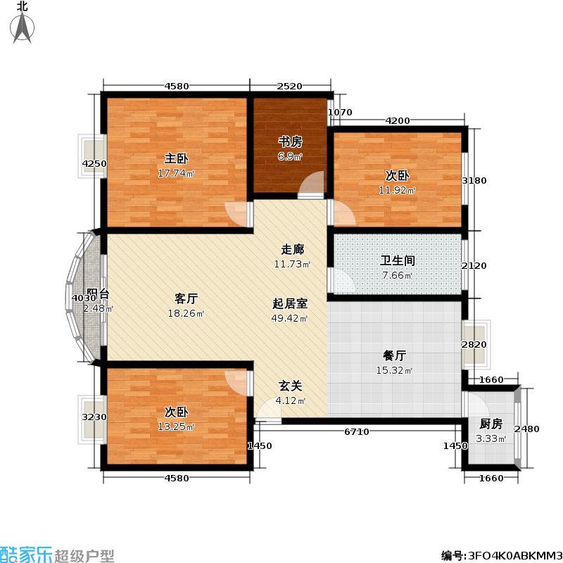 新顾村大家园C块商品住宅125.00㎡南北通户型