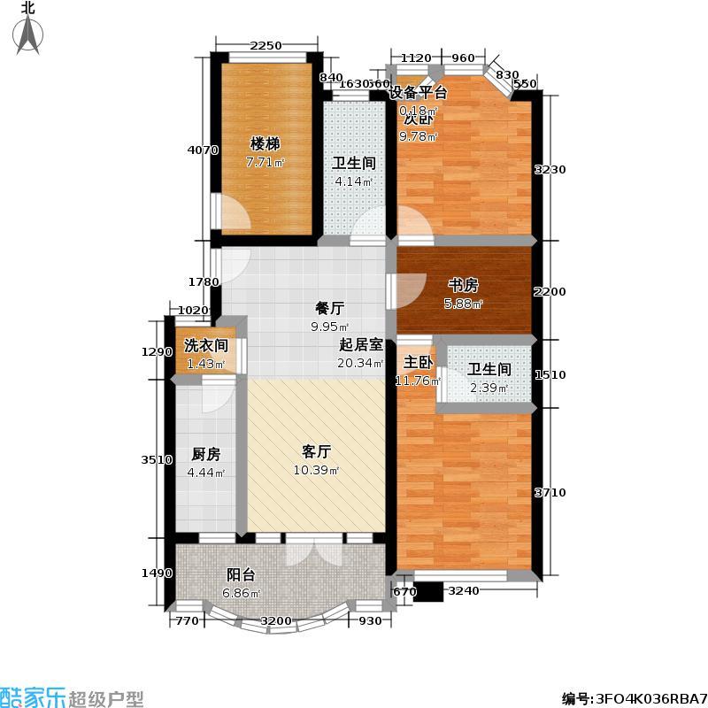 惠龙公寓88.00㎡房型户型