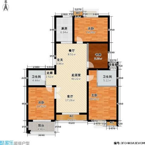 水岸人家4室0厅2卫1厨140.00㎡户型图