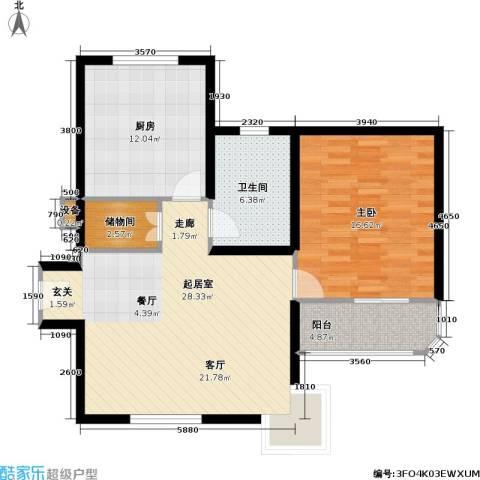 光复新苑1室0厅1卫1厨79.00㎡户型图