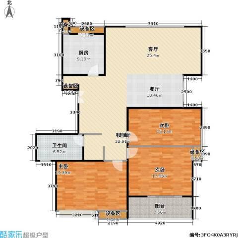人民家园3室1厅1卫1厨137.58㎡户型图