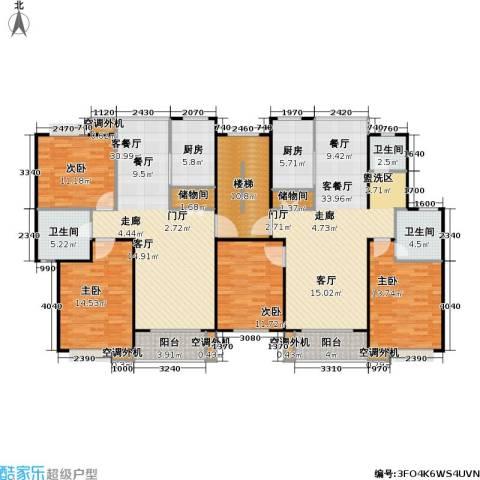 金榜世家六期4室2厅3卫2厨222.00㎡户型图