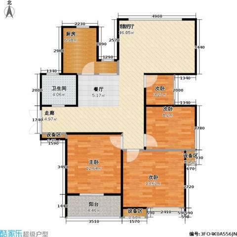 人民家园4室1厅1卫1厨107.00㎡户型图