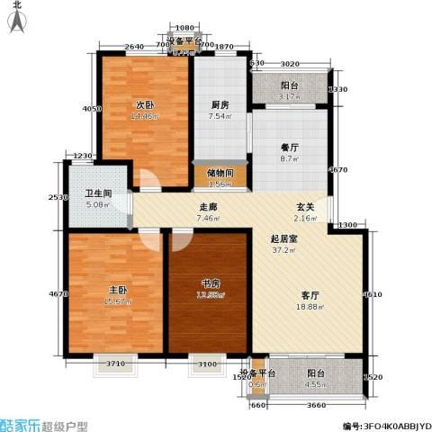 滨河景城3室0厅1卫1厨117.00㎡户型图