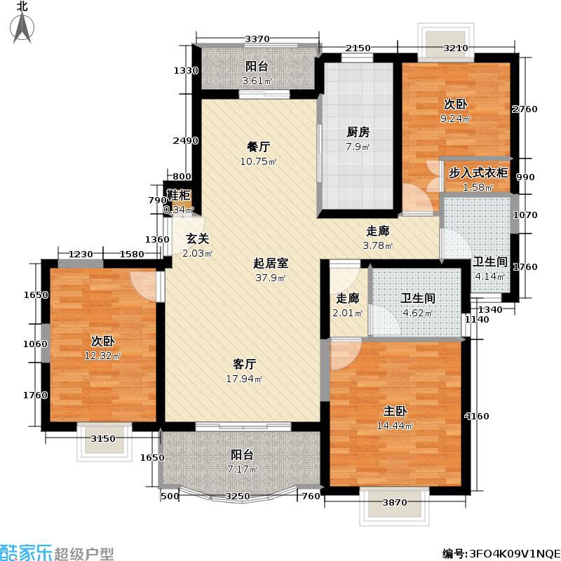 永兆豪庭120.00㎡房型户型