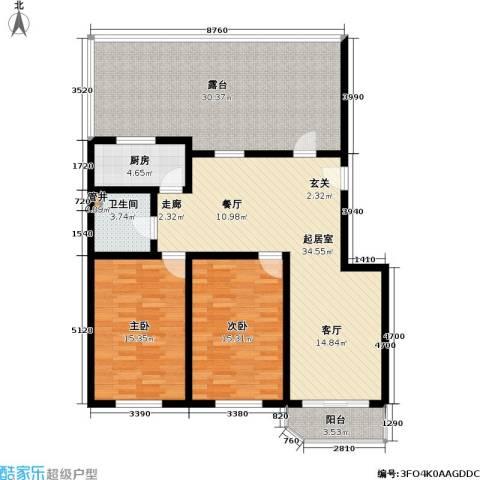 富莱茵花园2室0厅1卫1厨122.00㎡户型图