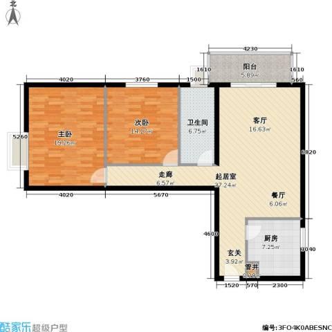 西环景苑(尾盘)2室0厅1卫1厨102.00㎡户型图