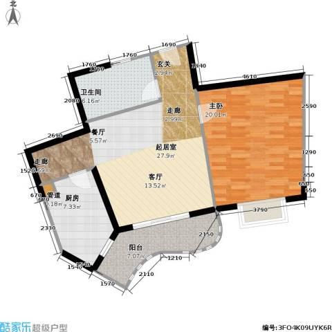 静安苏堤1室0厅1卫1厨95.00㎡户型图