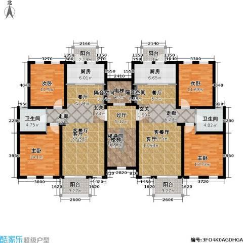 上地公寓4室2厅2卫2厨238.00㎡户型图