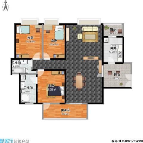 南城都汇二期3室1厅2卫1厨158.00㎡户型图