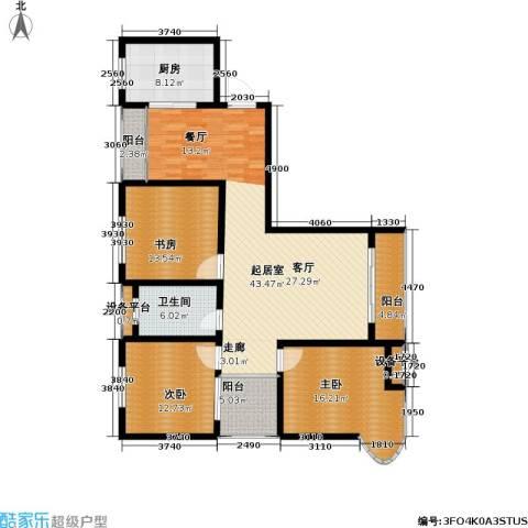 嘉城尚座3室0厅1卫1厨130.00㎡户型图