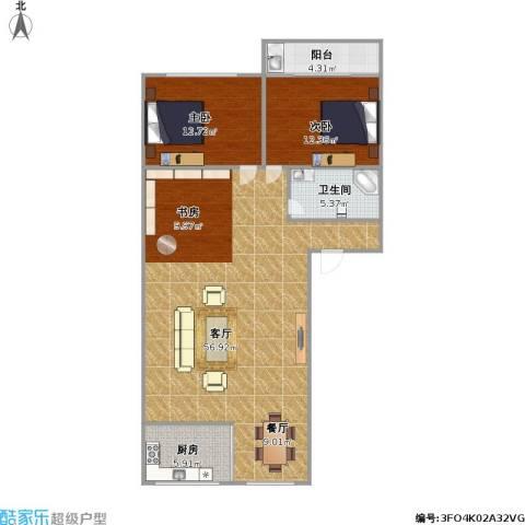 金丰花园2室1厅1卫1厨129.00㎡户型图