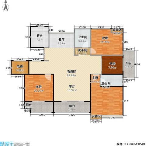 人民家园4室1厅2卫1厨172.00㎡户型图