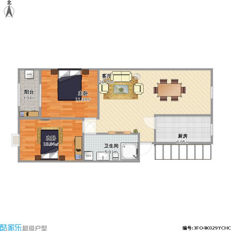 92方两室两厅