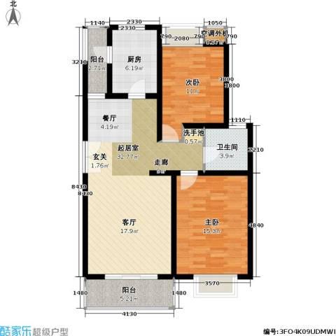 美乐地2室0厅1卫1厨89.00㎡户型图