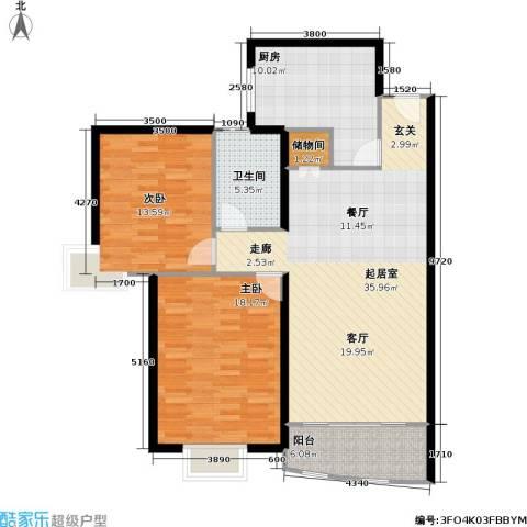 光复新苑2室0厅1卫1厨101.00㎡户型图