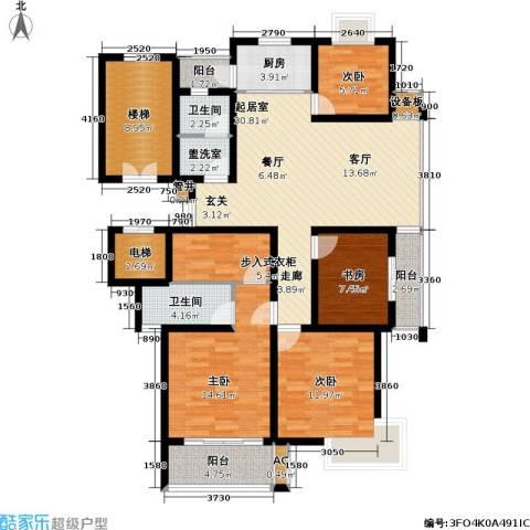 陈渡新苑4室0厅2卫1厨130.00㎡户型图
