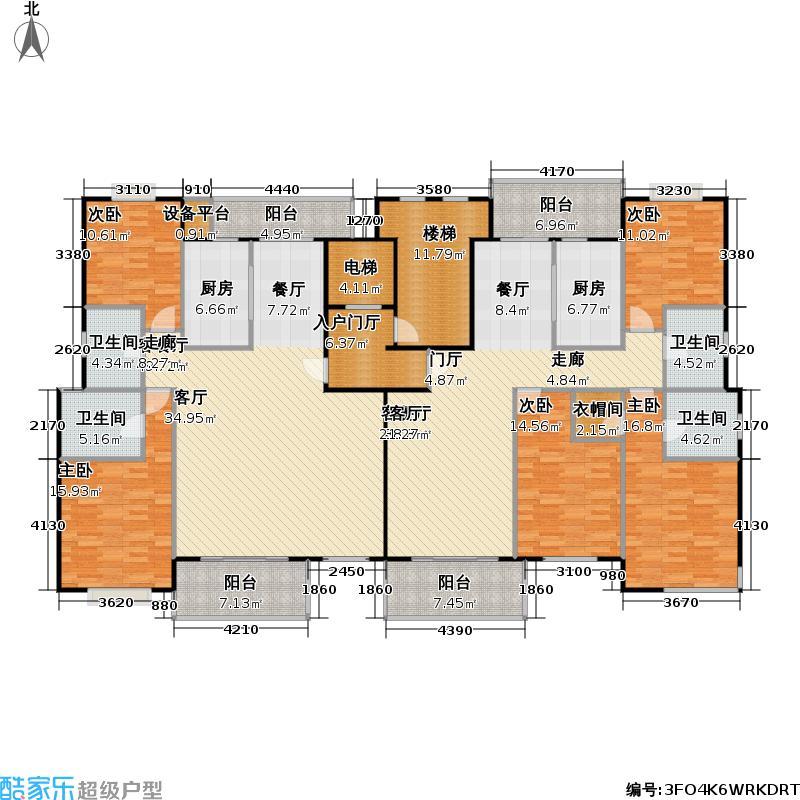 锦绣江南家园四期房型户型5室2厅4卫2厨