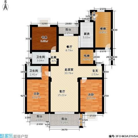 陈渡新苑3室0厅2卫1厨115.00㎡户型图