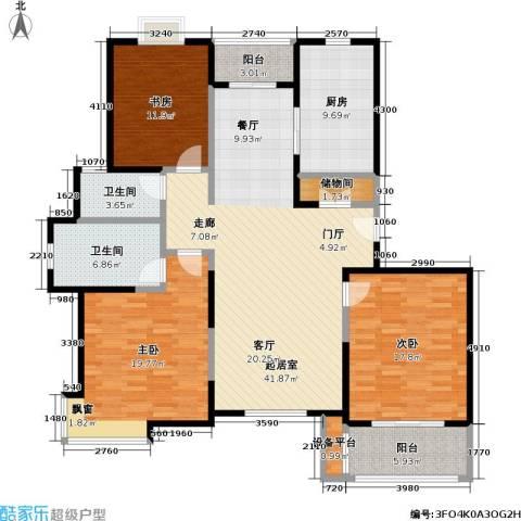 宝地福城惠明苑3室0厅2卫1厨173.00㎡户型图