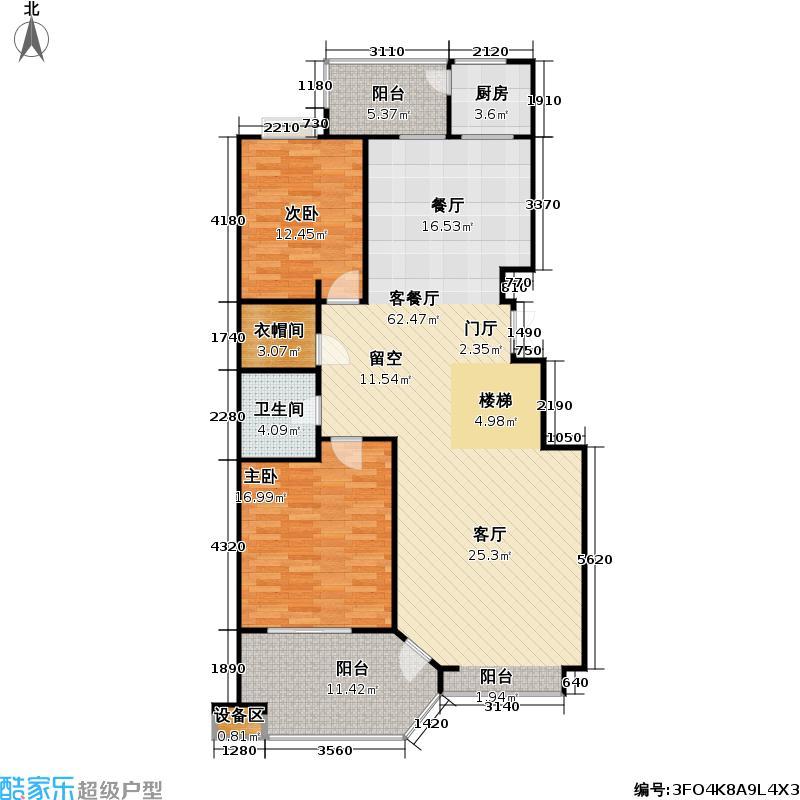 香溪度(熙湖二期)213.79㎡3号楼B1甲1下四室二厅二卫户型