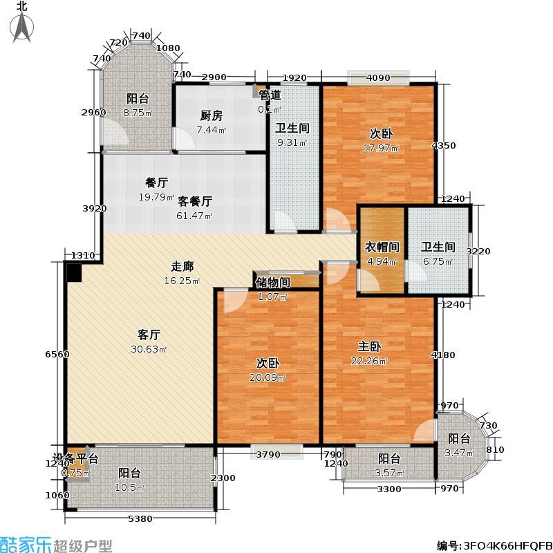 亚麦山城178.00㎡亚麦山城户型图三期E(2/17张)户型10室