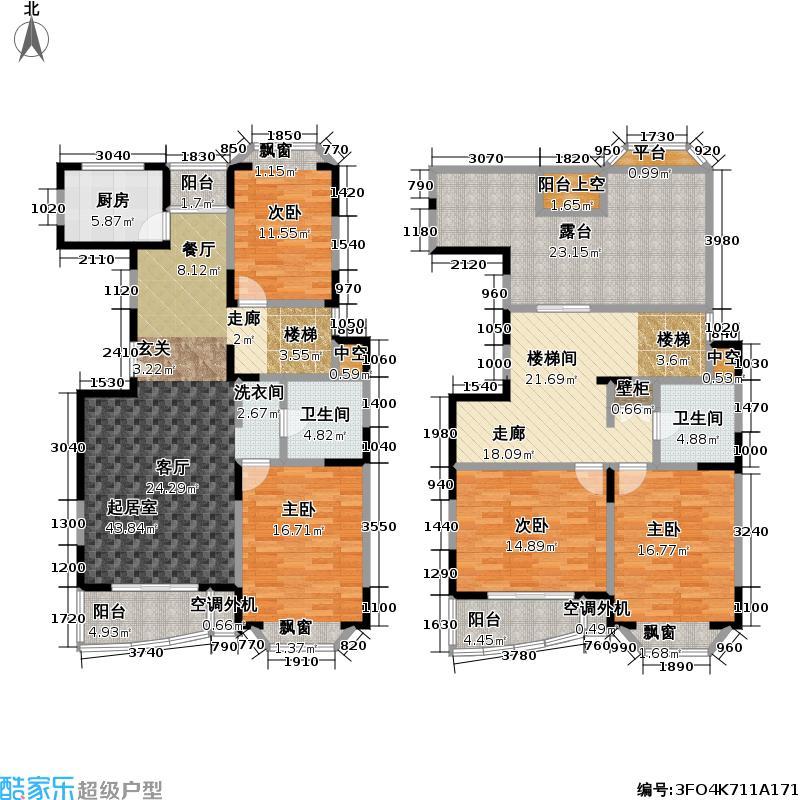 新理想家园一期176.46㎡房型: 复式; 面积段: 176.46 -251.88 平方米;户型