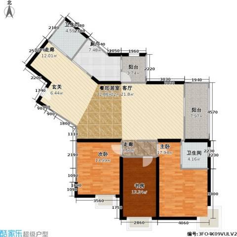 静安苏堤3室0厅2卫1厨140.00㎡户型图