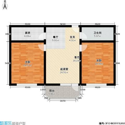 小沪春秋2室0厅1卫1厨81.50㎡户型图