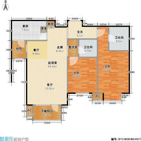 百旺茉莉园2室0厅2卫1厨109.00㎡户型图