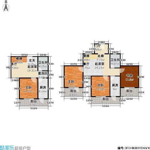 悦园(悦莱苑)4室0厅2卫2厨152.00㎡户型图