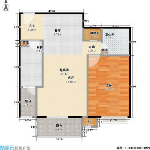 中景理想家1室0厅1卫1厨66.00㎡户型图