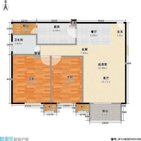 中景理想家2室0厅1卫1厨90.00㎡户型图