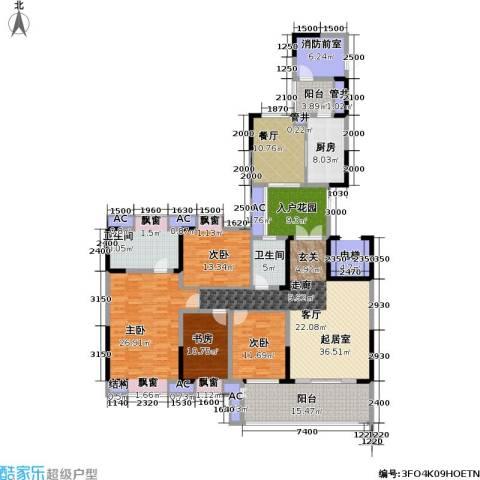 招商江湾城4室1厅2卫1厨251.00㎡户型图