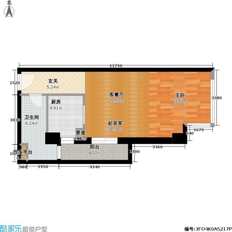 衡辰酒店式公寓58.17㎡房型户型