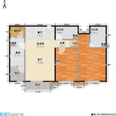中景理想家2室0厅2卫1厨90.00㎡户型图