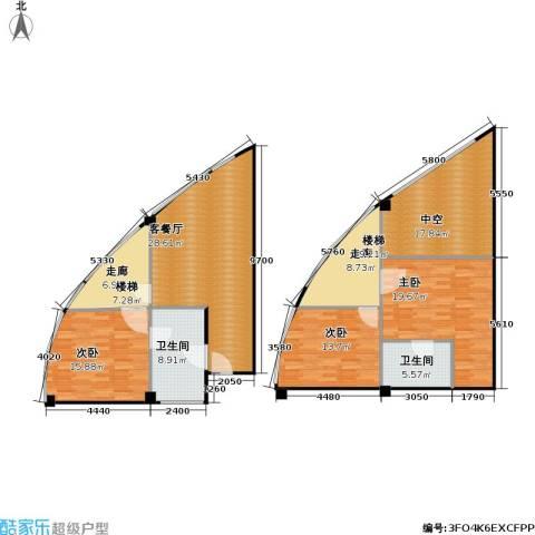 亚辰海派广场3室1厅2卫0厨135.01㎡户型图