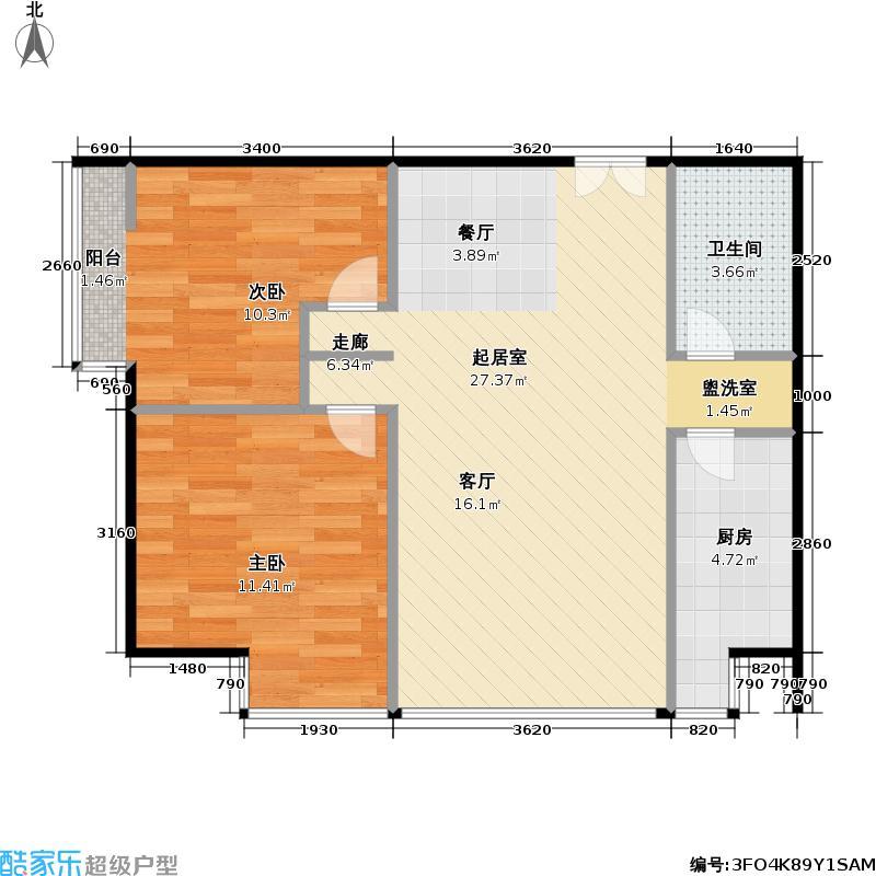 胜古馨园二室一厅户型