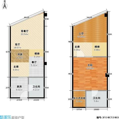 亚辰海派广场1室1厅2卫1厨102.00㎡户型图