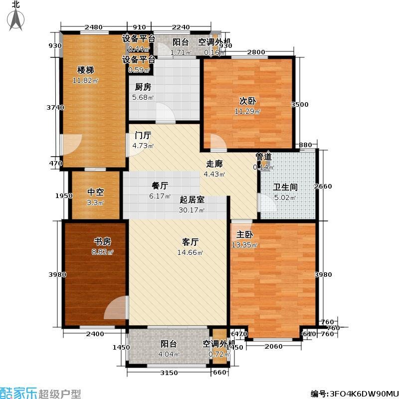 鼎泰丰2期107.00㎡小高层B2户型3室2厅1卫