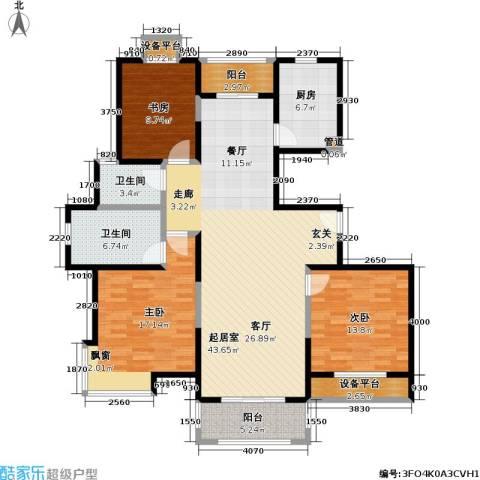 宝地福城惠明苑3室0厅2卫1厨159.00㎡户型图