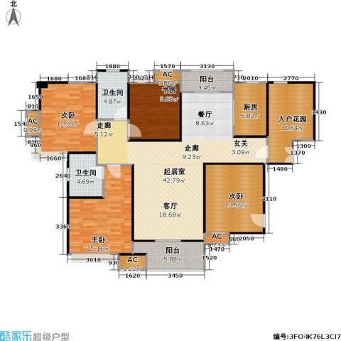 蓝光名仕公馆4室0厅2卫1厨133.48㎡户型图
