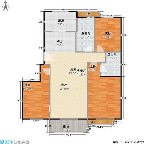 印象江南3室1厅2卫1厨154.00㎡户型图