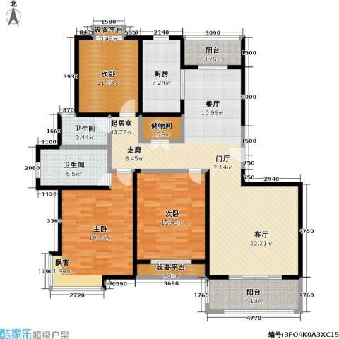 宝地福城惠明苑3室0厅2卫1厨174.00㎡户型图