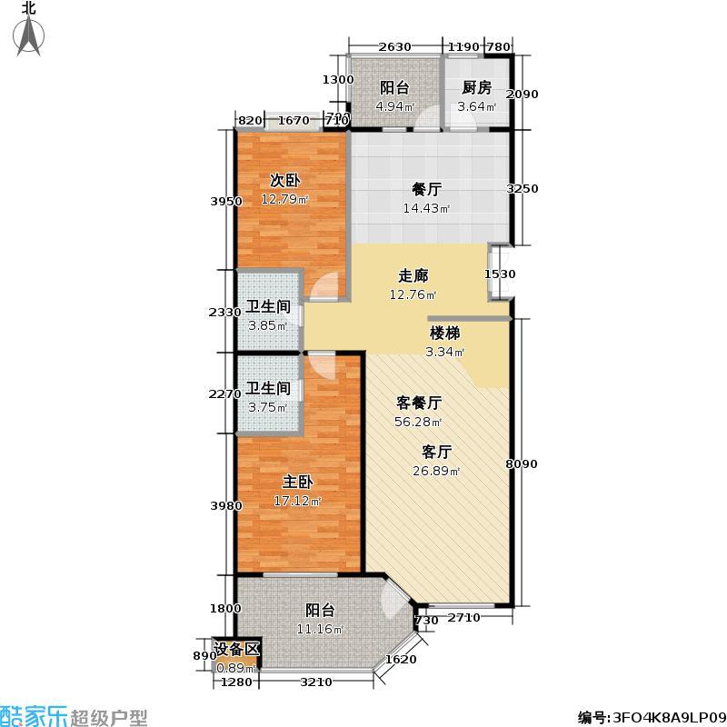 香溪度(熙湖二期)206.97㎡3号楼D7乙1下四室二厅三卫户型