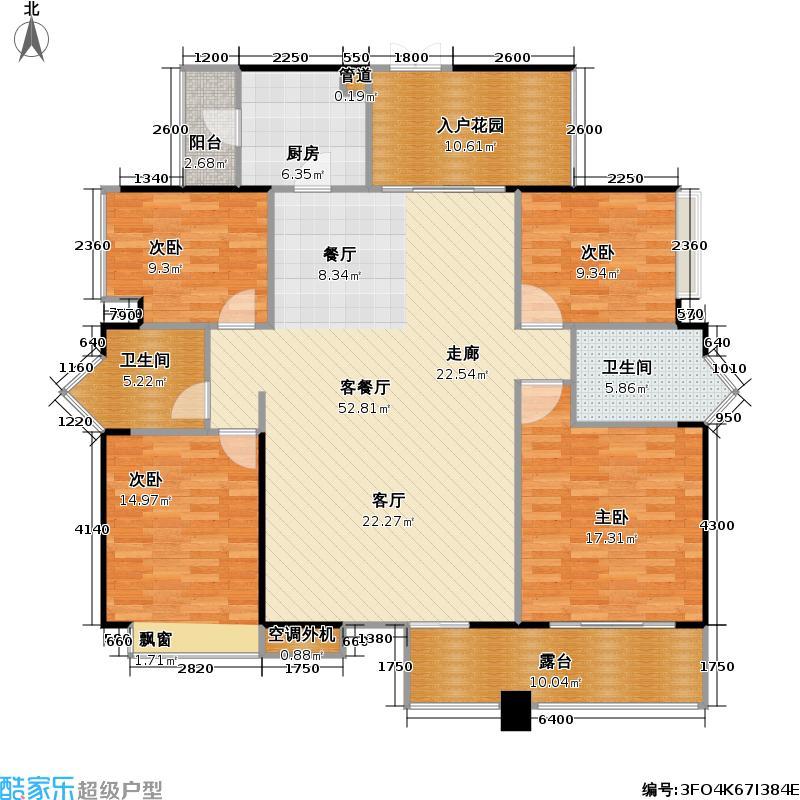 依云伴山223.00㎡依云伴山户型图四房两厅两卫(5/7张)户型10室