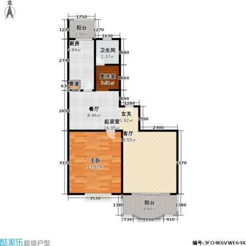 昌鑫协和园1室0厅1卫1厨60.00㎡户型图