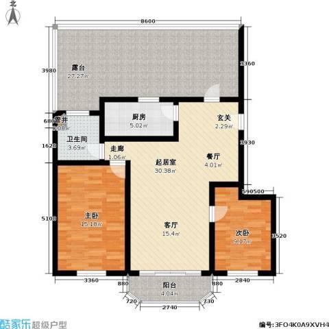 富莱茵花园2室0厅1卫1厨108.00㎡户型图